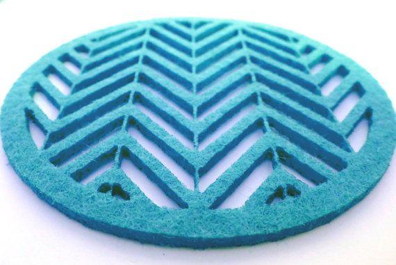 GROßE Runde fühlte Coaster 19.5x19.5cm von ShyDragonflyButik