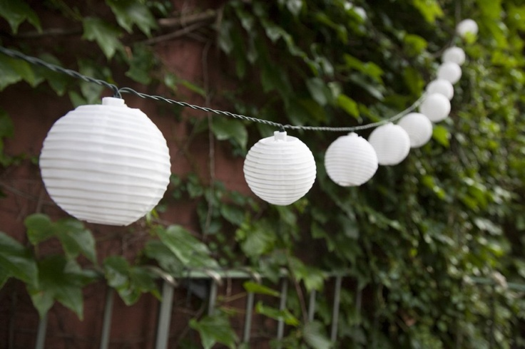 Amazon.com: Set of 30 Oriental Mini Round White Solar Nylon String Lights - High Quality Solar Panel: Patio, Lawn & Garden