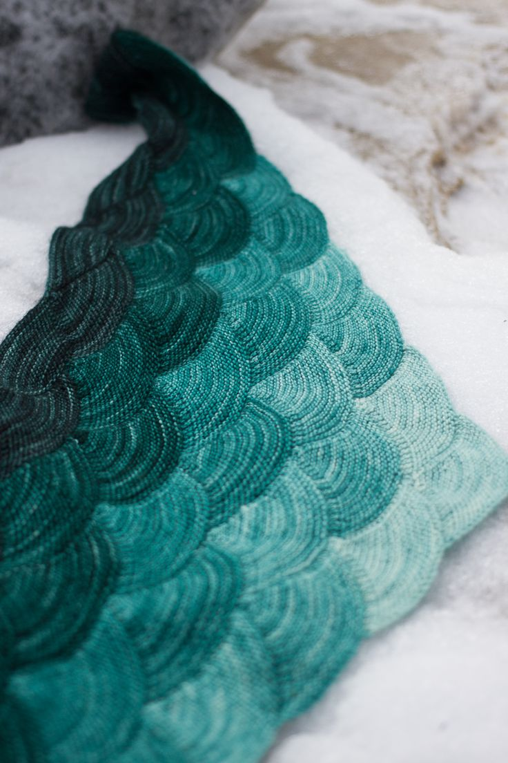 pepperknit   aranami shawl