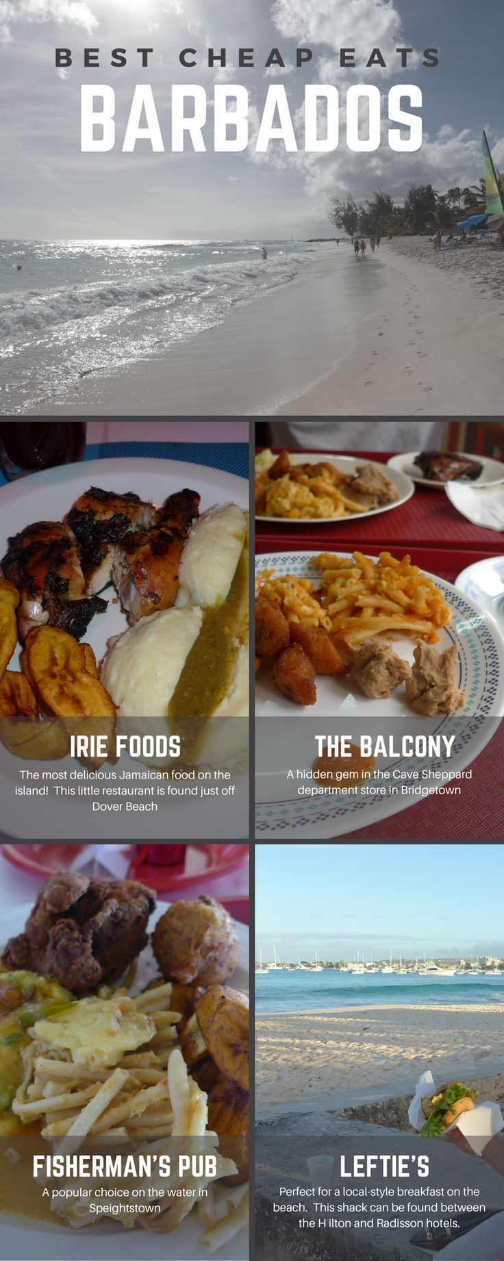 Where to find the best cheap local eats in Barbados! Local Food in Barbados   Cheap Eats in Barbados   Affordable Dining in Barbados   Bajan Food