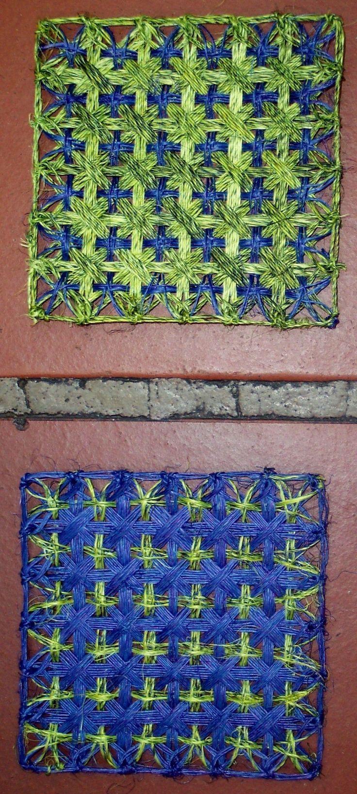 $3.000 COP Portavasos en cabuya tejidos en telar puntilla