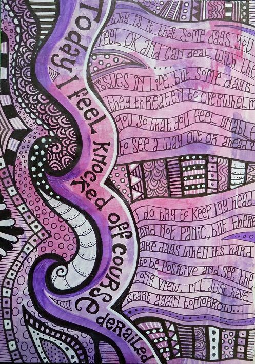 A lovely art journal page #literaryart http://writersrelief.com/                                                                                                                                                      More