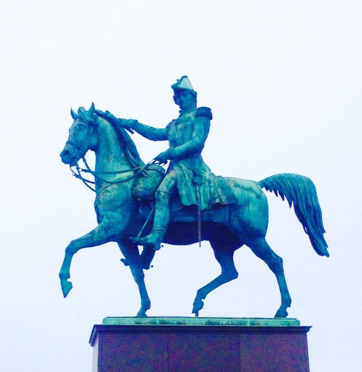 Staty i Gamla Stan i Stockholm