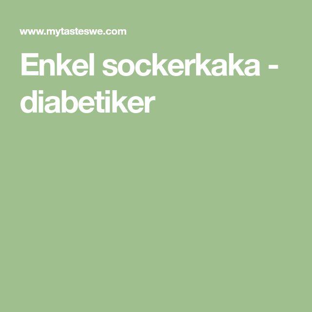 Enkel sockerkaka - diabetiker