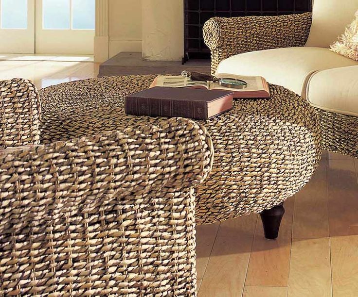 Rattan Ottoman Or Coffee Table Home Stuff Pinterest Round Ottoman Wicker Coffee Table And