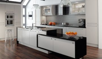 Bella Matt Dove Grey Kitchen - By BA Components, kitchen doors, interior design