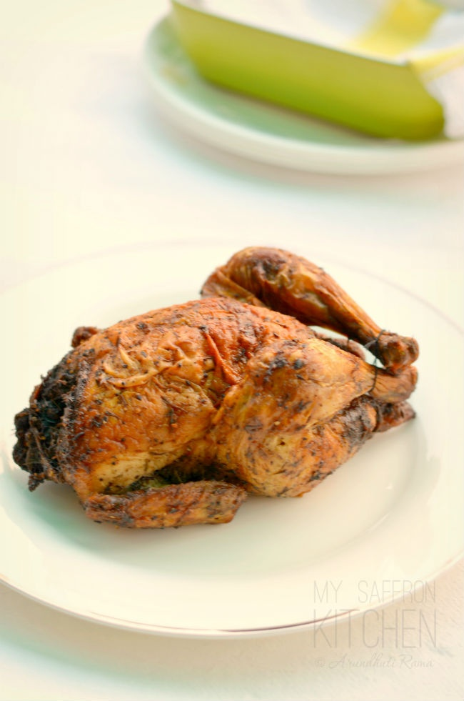 Herb Roasted Whole Chicken | indian recipes | Pinterest