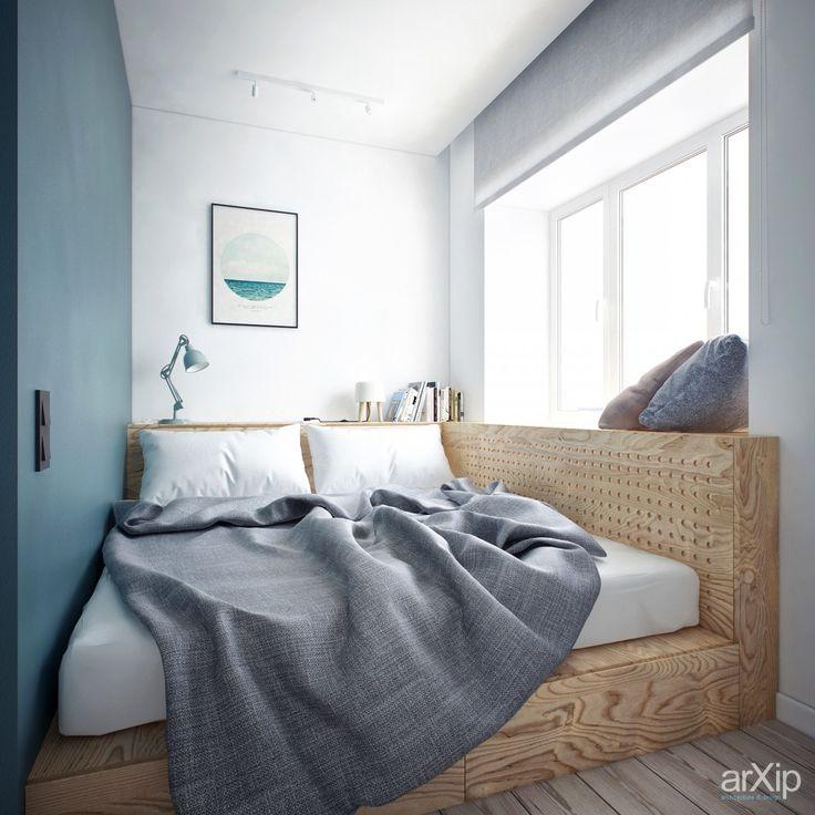 """Интерьер - Проект """"Комната для девочки-подростка""""   #маленькаяплощадь #спальня"""