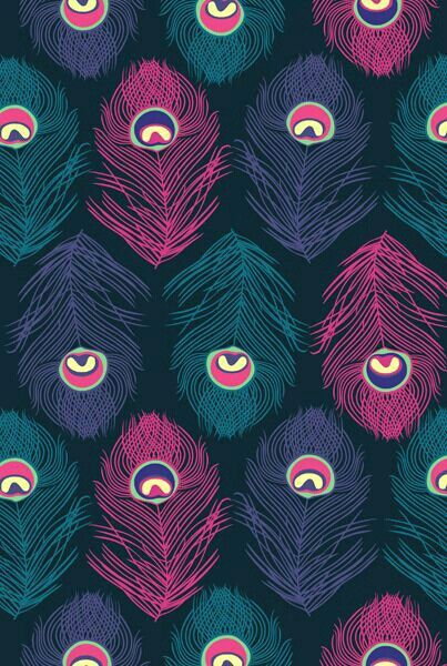 PATTERNS ♡ FEATHERS Pavoreal ☺