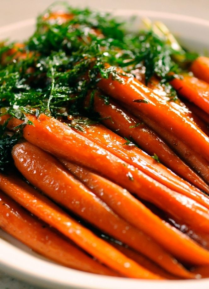 Yummy brown-sugared carrots for Thanksgiving.