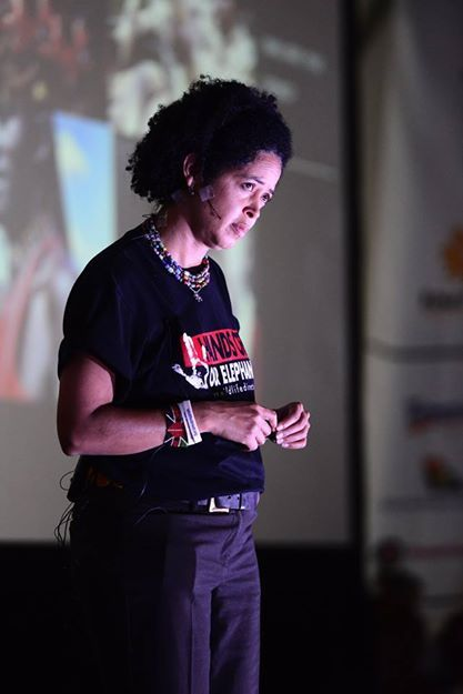 The incredible Dr Paula Kahumbu addressing the Rhino Warriors... www.youthrhinosummit.com #rhino #wildlife