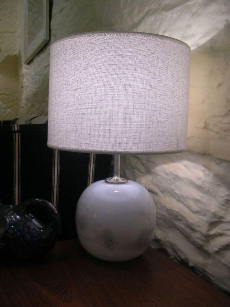 Vintage Danish Modern Holmegaard  Sakura  Glass Table Lamp Base Michael Bang