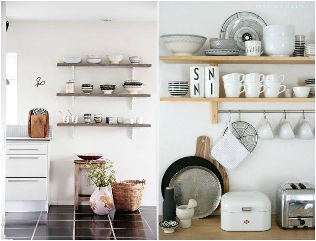 Estantes a la vista en la cocina la garbatella blog de - Baldas de diseno ...