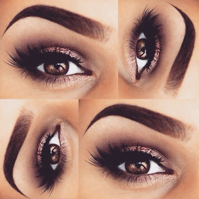 eye make up with a darker lip color