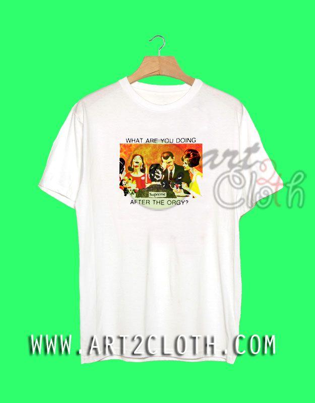 Cheap Custom Tee Supreme NYC Orgy T Shirt   Price   9.99     FashionWomens 7a42dfa522c