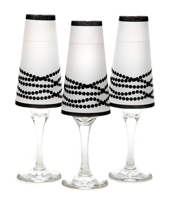 10 best vellum lamp shades images on pinterest craft ideas glass how cute would this be on tables with a battery tea lighttake home wedding favor this black her pearls champagne glass shade set of six is perfect aloadofball Image collections