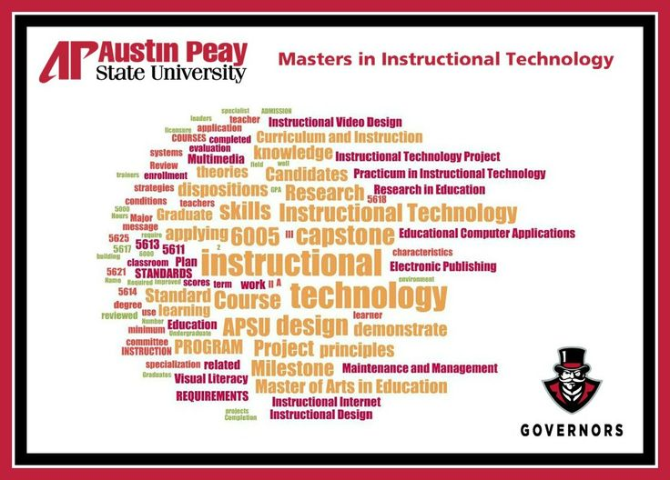 masters degree in instructional design and technology online