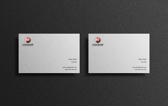 Free Modern Business Card Mockup On Black Background Business Card Mock Up Business Card Psd Modern Business Cards