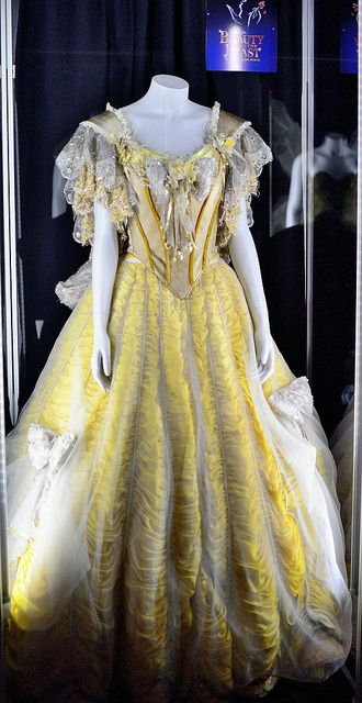 Belle's Dress from Beauty and the Beast on Broadway --Worn by Toni Brazton. --  Taken at the D23 preview of Treasures of the Walt Disney Archives exhibit at the Ronald Reagan Library in Simi Valley, California.