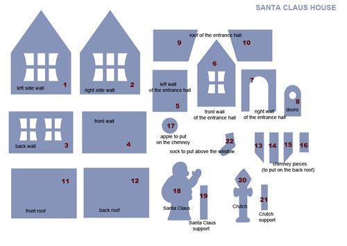 Best 25+ Gingerbread House Template Printable Ideas On