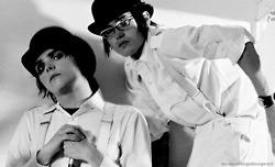 Gerard and Mikey.. Clockwork Orange shoot
