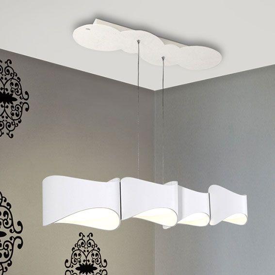 Lámparas de techo : Lámpara Colgante en Led Blanca