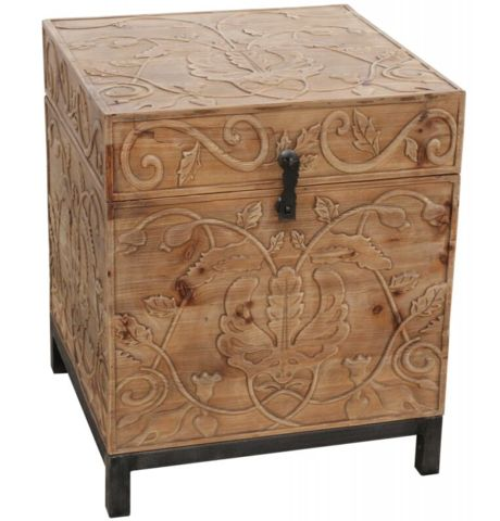 Small Trunk with Wood Carving - Complete Pad ®