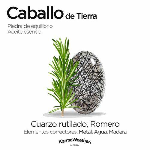 Curación energética y aromaterapia para el Caballo de Tierra - Cuarzo rutilado #PiedraPreciosa y Romero #AceiteEsencial
