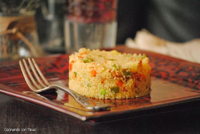 Cuscús con verduras y pollo macerado con soja