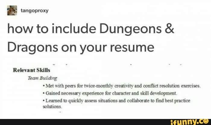 L Isnguproxy How To Include Dungeons Dragons On Your Resume