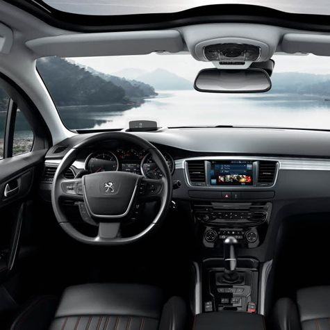 #Peugeot #508RXH Interior: The sleek dashboard stylings, the quality of the materials used and the meticulous attention to detail give the car a sophisticated feel.