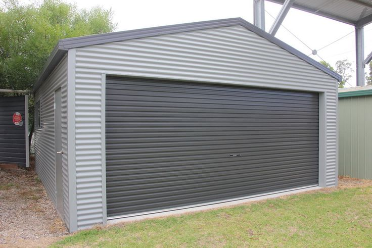 Ranbuild Deluxe Garage With Horizontal Corrugated Cladding