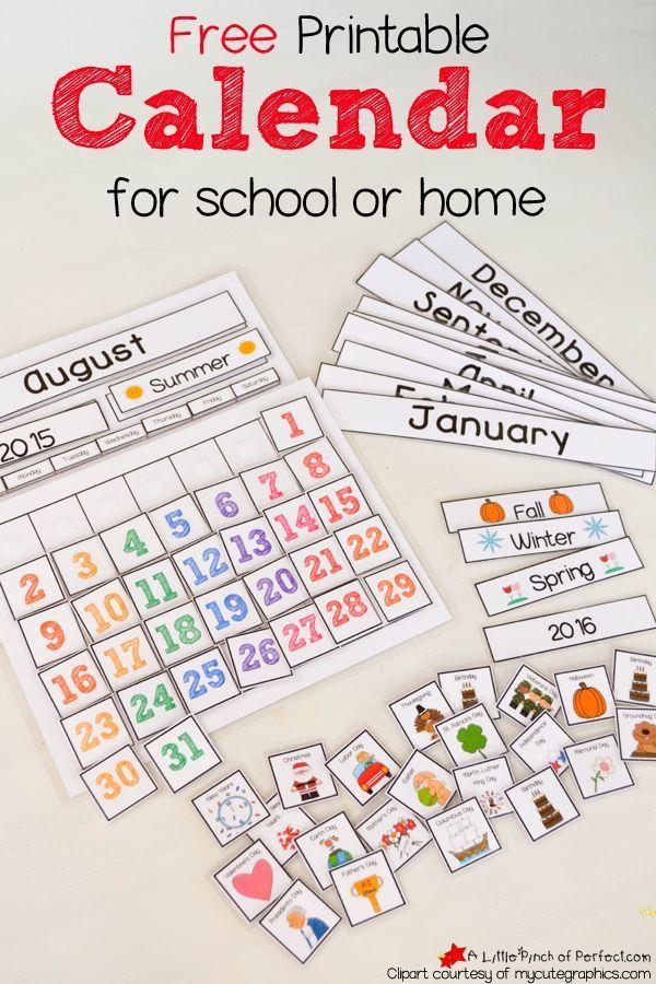 Kindergarten Calendar Flip Chart : Free printable preschool calendar numbers images