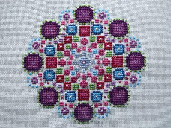 Modern Cross Stitch Chart Mandala PDF Pattern