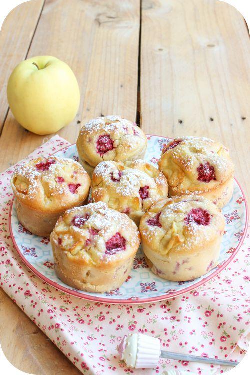 Muffins pommes framboises (1)