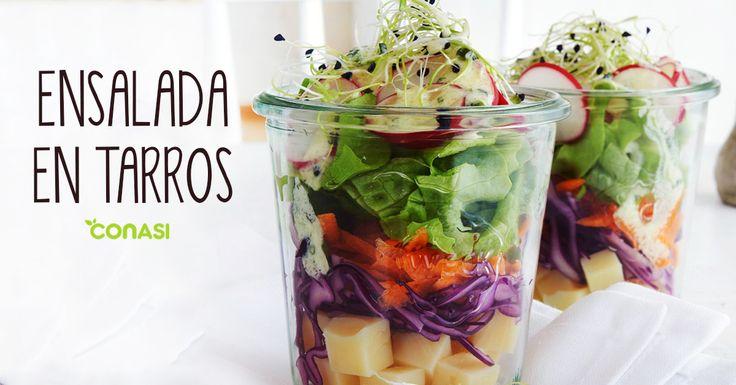¿Has probado las ensaladas en bote? 😋 Hazlas en los Tarros Weck, son fantásticos para conservar la comida fresca hasta 5 días. #Alimentación