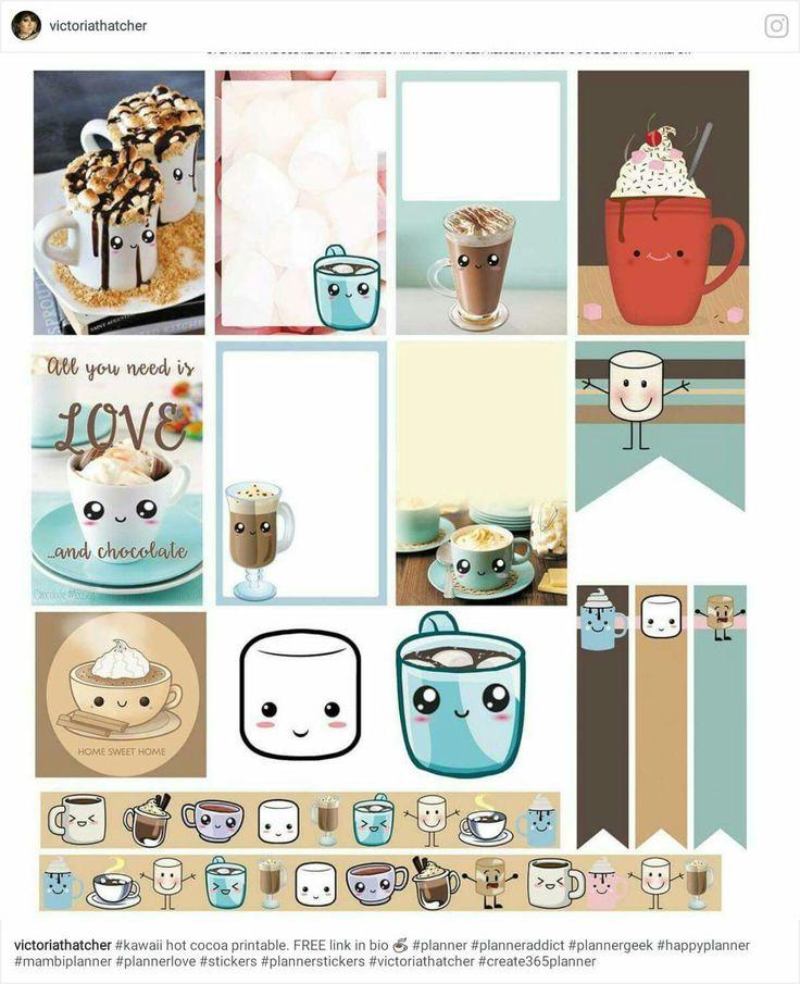 hot chocolate stickers, hot cocoa, minibook, mini book, MB, planner
