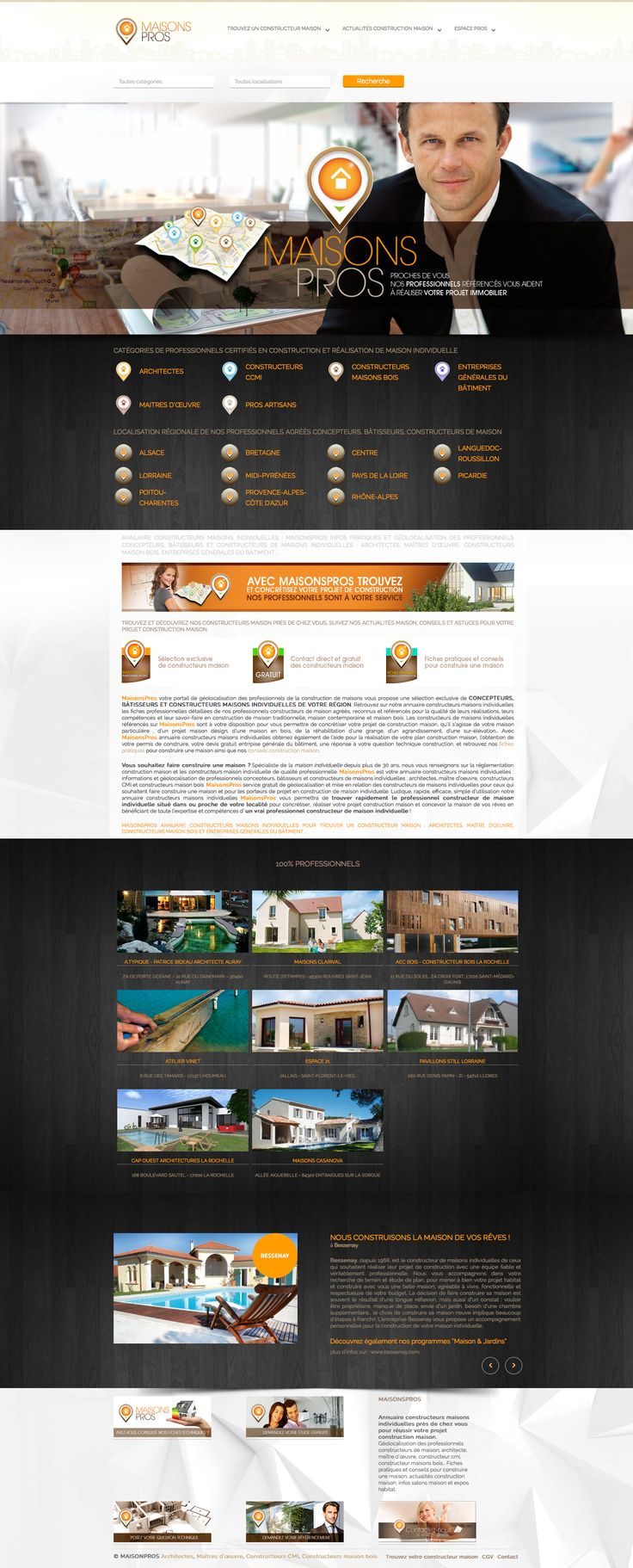 MaisonsPros your portal geolocation professional home construction offers an exclusive selection of DESIGNERS, BUILDERS AND MANUFACTURERS OF INDIVIDUAL HOUSES YOUR AREA. More info at: http://http://www.maisonspros.comwww.maisonspros.com