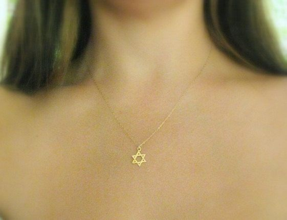 Gold star necklace star of david  Necklace magen by MoonliDesigns, $25.00