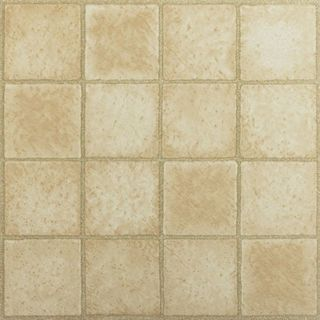 Tivoli 16 Square Sandstone 12x12 Self Adhesive Vinyl Floor Tile - 45 Tiles/45 sq Ft.