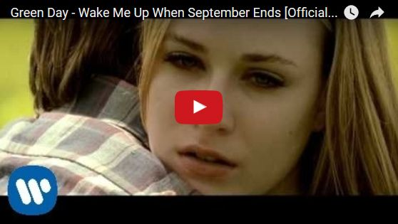 Watch: Green Day - Wake Me Up When September Ends See lyrics here: http://greenday-lyrics.blogspot.com/2012/07/wake-me-up-when-september-ends-lyrics.html #lyricsdome