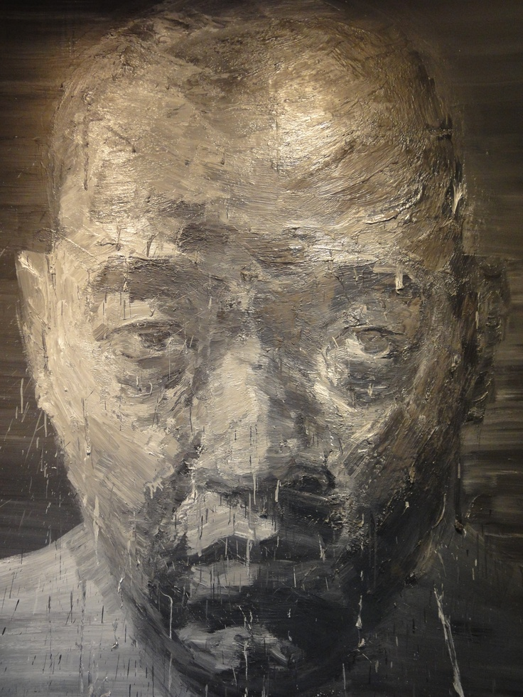 Self-portrait no 3 by Yan Pei Ming at Museum of Fine Arts in Dijon - France