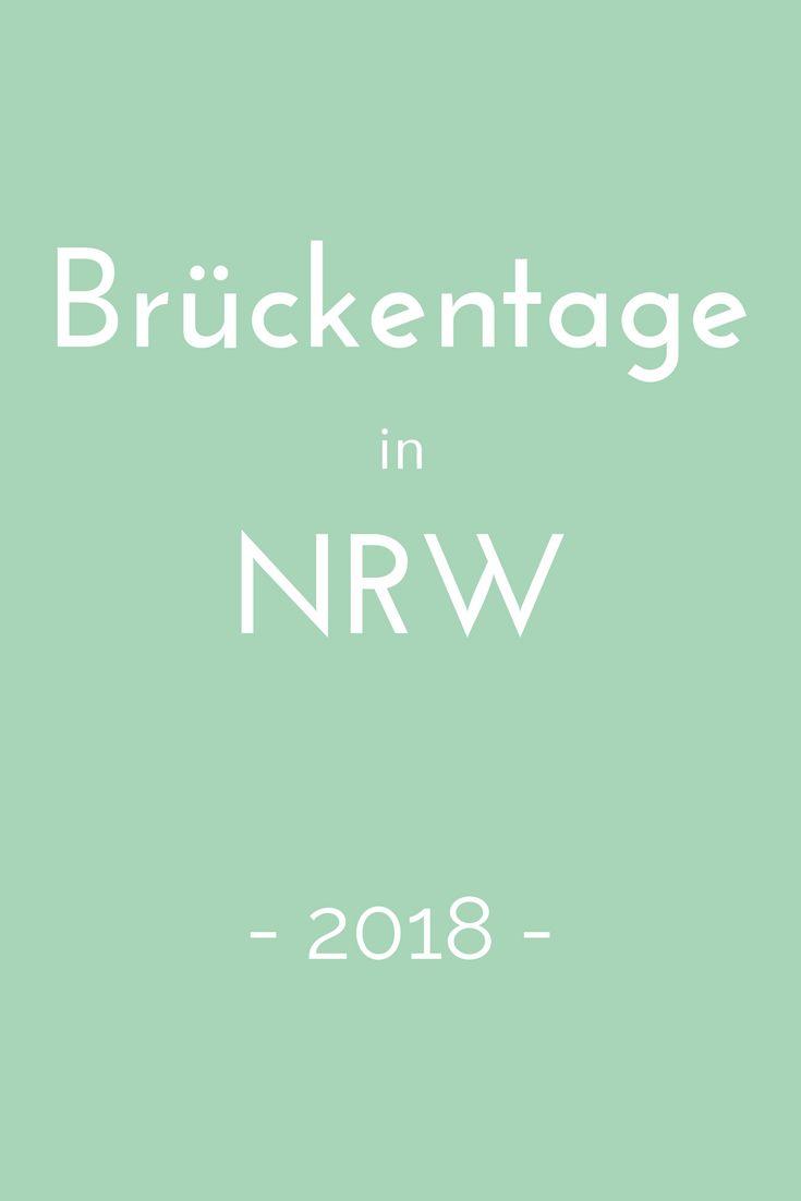Brückentage nutzen, um ein paar Tage länger frei zu haben? Wie das geht, verrät der Brückentagekalender 2018 für Nordrhein-Westfalen