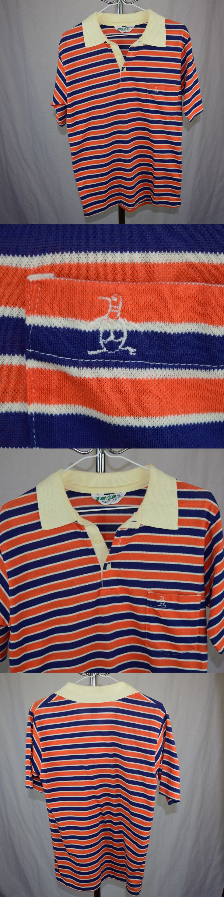 Casual Shirts 175770: Vintage Munsingwear Grand Slam Penguin Shirt 80S Striped Shirt S M Made Usa -> BUY IT NOW ONLY: $44.37 on eBay!