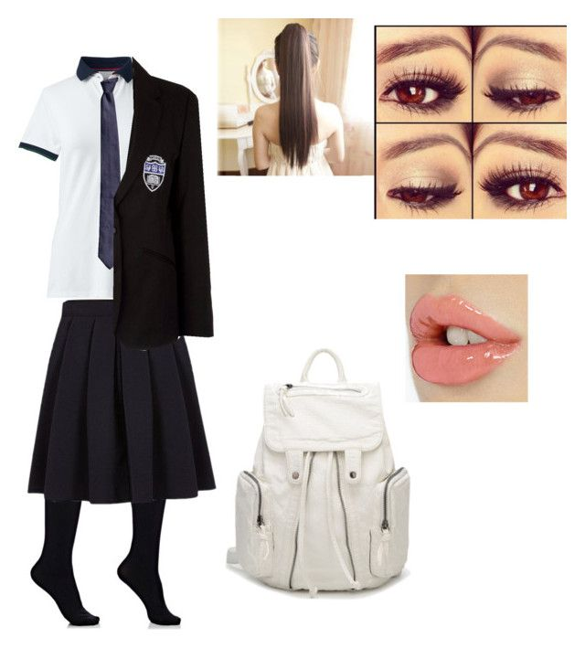 """School uniform"" by julle-fangirl on Polyvore featuring Wolford, Lands' End, George and Altea"