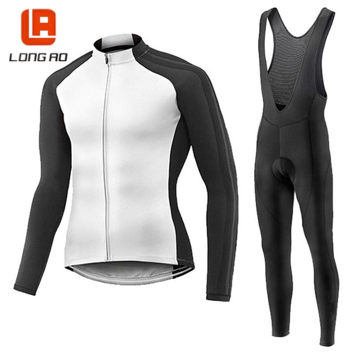LONGAO 100% poryester Men's Cycling Jersey Long Sleeve Outdoor Sports Bicycle Cycle Clothing Quick Dry Riding Clothes