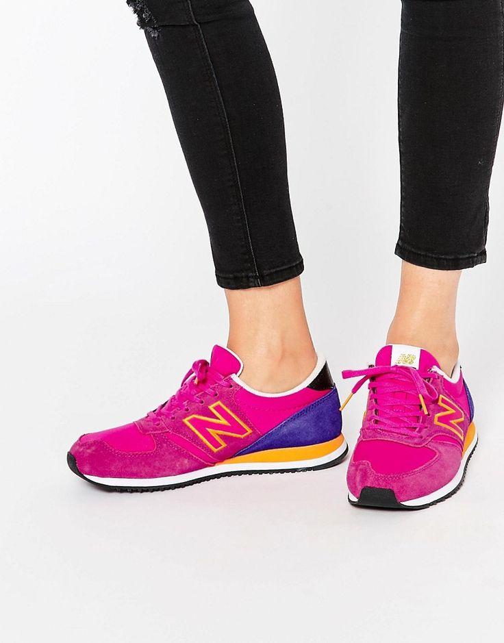 Image 1 ofNew Balance 420 Pink & Orange Trainers