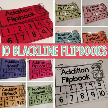 Addition Flipbooks for Addition Facts within 10