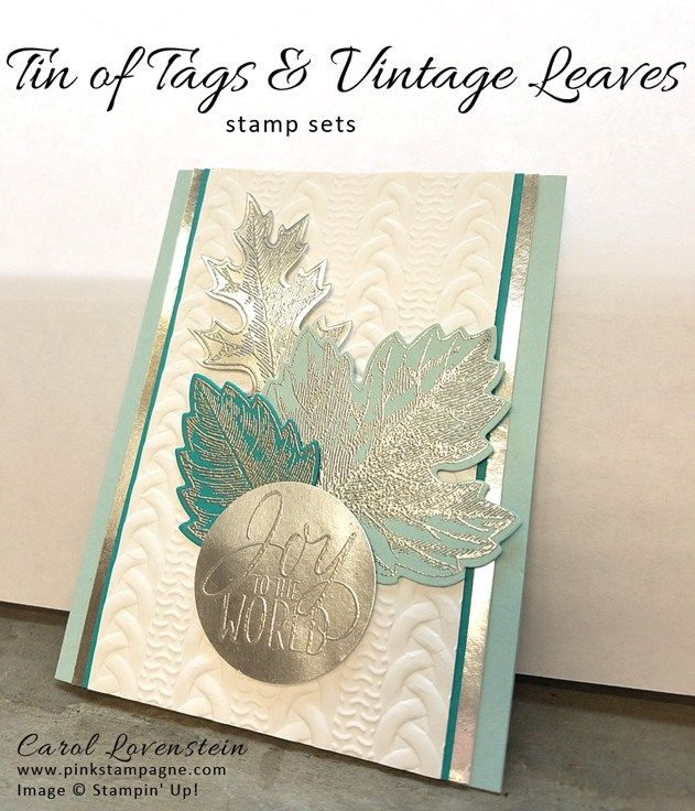 Winter Tin of Tags & Vintage Leaves stamp sets