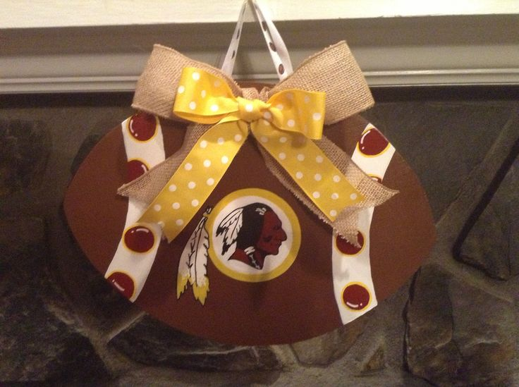 Redskins wreath $20.00 If interested in buying one any team send me a message on Facebook or by email bcguiton@yahoo.com.